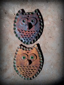 Owl Wall Hanging / Incense Holder